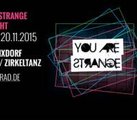 VERLOSUNG // T-Shirt + Gästelisteplätze für die YOU ARE STRANGE Labelnight am 20.11.2015 // 50 Grad, Mainz