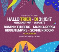 31.10.2017 // Sophie Nixdorf @ HALLO TRIER mit DOMINIK EULBERG, MARIKA ROSSA, SOPHIE NIXDORF & HIDDEN EMPIRE